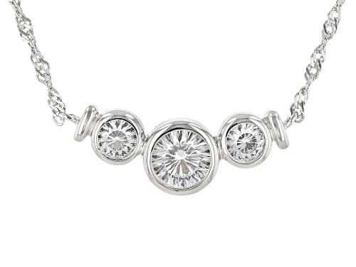 Photo of Bella Luce ® 2.26ctw Dillenium Platinum Over Sterling Silver Necklace (1.34ctw DEW) - Size 18