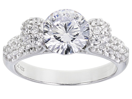 Photo of Bella Luce ® 5.02ctw Dillenium Rhodium Over Sterling Silver Ring (3.01ctw DEW) - Size 7