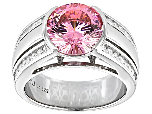 Photo of Bella Luce ® 6.86ctw Dillenium Pink And White Diamond Simulants Rhodium Over Silver Ring - Size 7