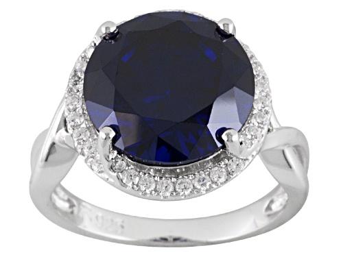 Photo of Bella Luce ® Esotica™ 10.35ctw Tanzanite & White Diamond Simulants Rhodium Over Silver Ring - Size 6
