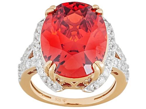 Photo of Bella Luce ® Esotica ™ 23.69ctw Fire Opal & White Diamond Simulants Eterno ™ Rose Ring - Size 5