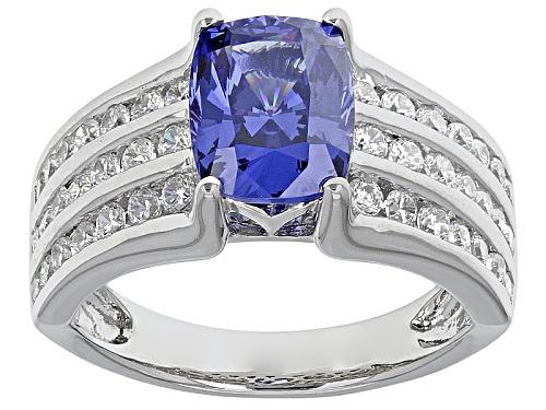 Photo of Bella Luce ® Esotica ™ 4.77ctw Tanzanite & White Diamond Simulants Rhodium Over Silver Ring - Size 9
