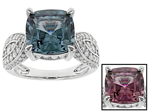 Photo of Bella Luce ® Esotica ™ 7.04ctw Alexandrite And White Diamond Simulants Rhodium Over Silver Ring - Size 10
