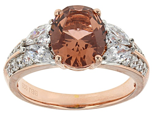 Photo of Bella Luce ® Esotica ™ 4.20ctw Rose Tourmaline & Diamond Simulants Eterno ™ Rose Ring - Size 8