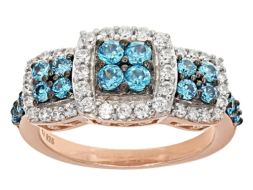 Photo of Bella Luce ® Esotica ™ 1.93ctw Neon Apatite & White Diamond Simulants Eterno ™ Rose Ring - Size 11