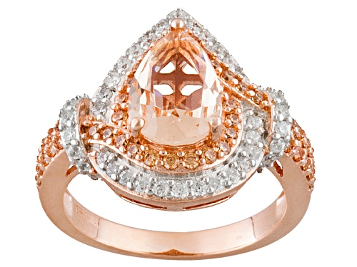 Photo of Bella Luce Esotica ™ 2.72ctw Morganite & Champagne & White Diamond Simulants Eterno™ Rose Ring - Size 11