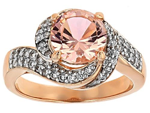Photo of Bella Luce ® Esotica ™ 2.25ctw Morganite & Diamond Simulants Eterno ™ Rose Ring - Size 12