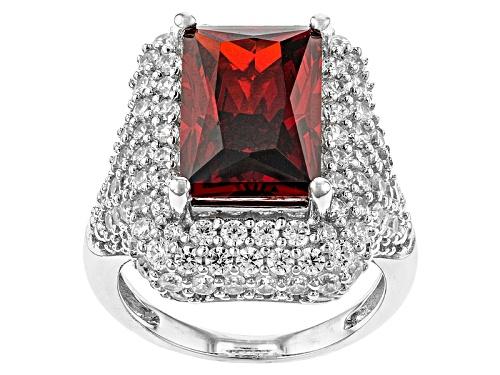 Photo of Bella Luce® Esotica™13.52ctw Spessartite Garnet & White Diamond Simulants Rhodium Over S/S Ring - Size 7