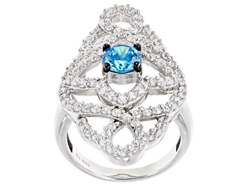 Photo of Bella Luce ® Esotica ™ 4.21ctw Neon Apatite & Diamond Simulants Rhodium Over Sterling Ring - Size 6