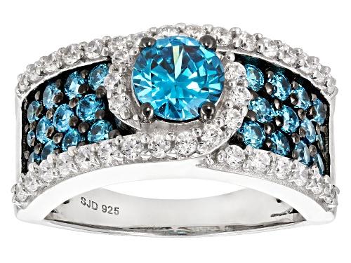 Photo of Bella Luce ® Esotica ™ 3.78ctw Neon Apatite & Diamond Simulants Rhodium Over Sterling Ring - Size 12