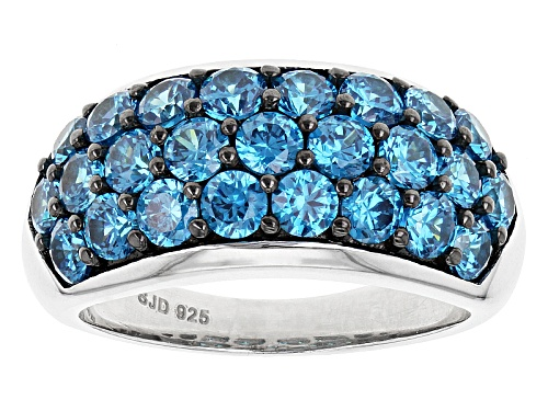Photo of Bella Luce ® Esotica ™ 4.90ctw Neon Apatite Siimulant Rhodium Over Sterling Silver Ring - Size 6