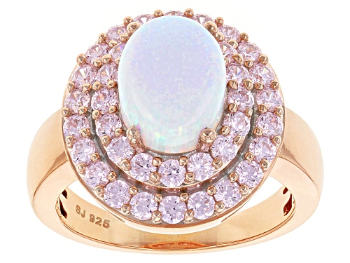 Photo of Bella Luce ® Esotica ™ 4.17ctw Lab Created Opal & Diamond Simulant Eterno ™ Rose Ring - Size 8