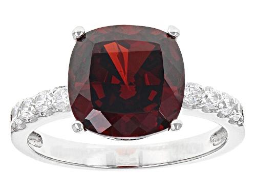 Photo of Bella Luce® Esotica™ 10.04ctw Garnet & Diamond Simulants Rhodium Over Sterling Ring - Size 7
