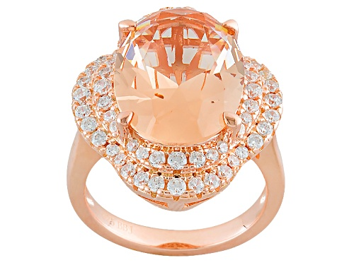 Bella Luce ® Esotica ™ 7.96ctw Morganite & White Diamond Simulants Eterno ™ Rose Ring - Size 10