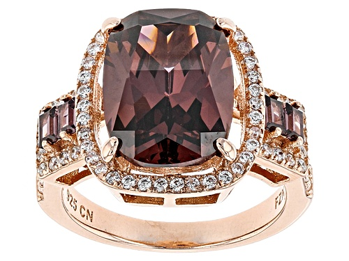 Photo of Bella Luce ®Esotica ™ 10.35ctw Blush Zircon And White Diamond Simulants Eterno ™ Rose Ring - Size 5