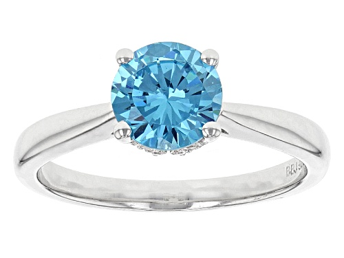 Photo of Bella Luce® Esotica ™ 1.64ctw Neon Apatite & White Diamond Simulants Rhodium Over Sterling Ring - Size 12