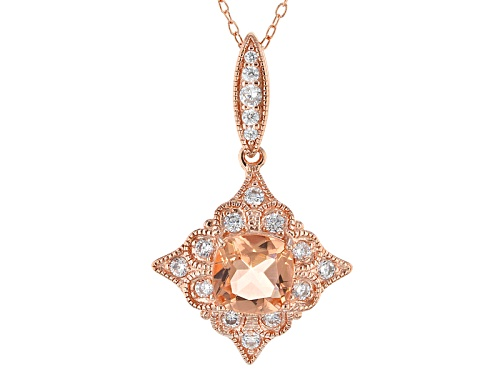 Photo of Bella Luce®Esotica™1.68ctw Morganite & Diamond Simulants Eterno™Rose Pendant With Chain