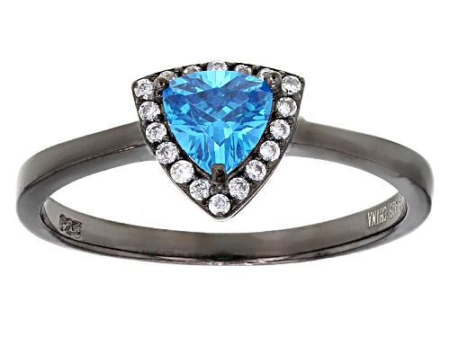 Photo of Bella Luce®Esotica™1.11ctw Neon Apatite And Diamond Simulants Black Rhodium Over Sterling Ring - Size 9