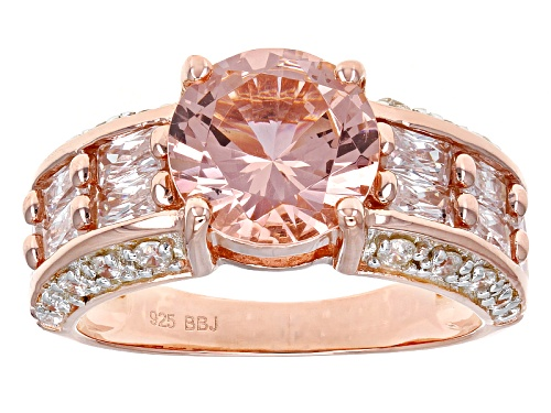 Photo of Bella Luce ® Esotica ™ 7.69ctw Morganite & White Diamond Simulants Eterno ™ Rose Ring - Size 12