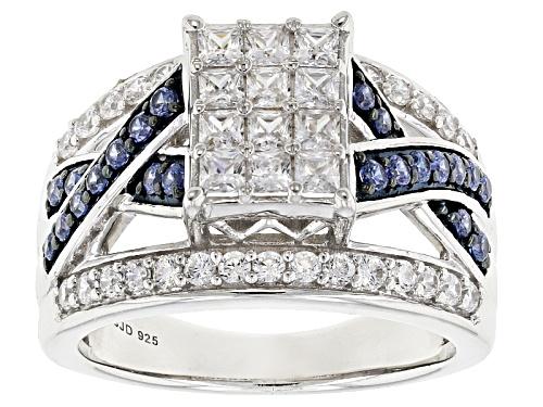 Photo of Bella Luce® Esotica™ 2.39ctw Tanzanite & White Diamond Simulants Rhodium Over Silver Ring - Size 9