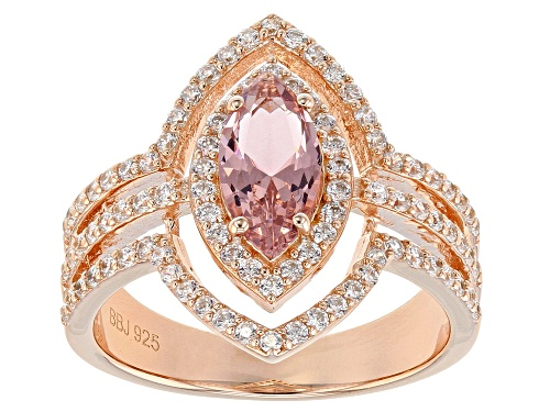 Photo of Bella Luce ® 2.16CTW Esotica ™ Morganite & White Diamond Simulants Eterno ™ Rose Ring - Size 12