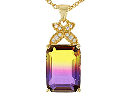 Photo of Bella Luce ® 5.39CTW Esotica ™ Ametrine & White Diamond Simulants Eterno ™ Pendant With Chain