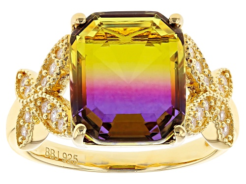 Photo of Bella Luce ® 4.82CTW Esotica ™ Ametrine & White Diamond Simulants Eterno ™ Yellow Ring - Size 5