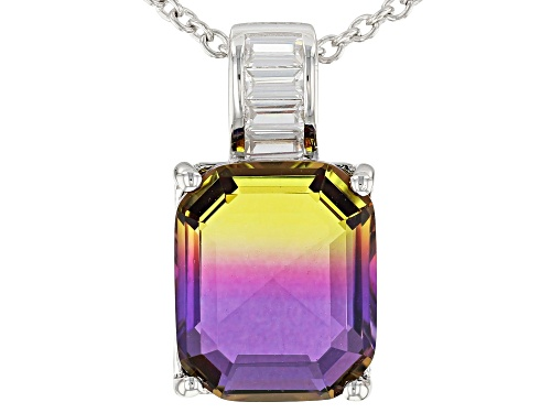 Photo of Bella Luce ® 4.88CTW  Esotica ™ Ametrine And White Diamond Simulants Silver Pendant With Chain