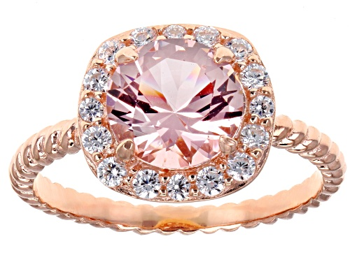 Photo of Bella Luce ® 2.38CTW Esotica ™ Morganite & White Diamond Simulants Eterno ™ Rose Ring - Size 10