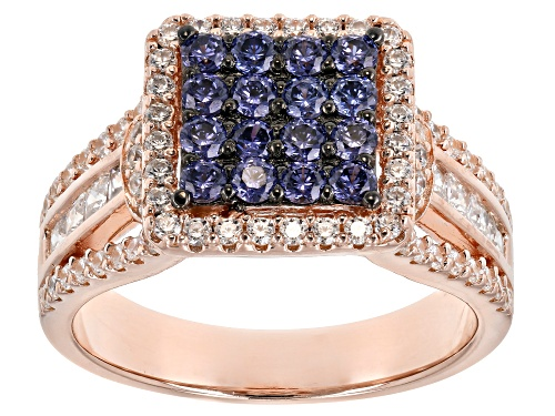 Photo of Bella Luce ® Esotica ™ 2.66CTW Tanzanite And White Diamond Simulants Eterno ™ Rose Gold Ring - Size 7