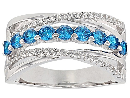 Photo of Bella Luce ® 1.47CTW Estoica ™ Neon Apatite And White Diamond Simulants Rhodium Over Silver Ring - Size 5