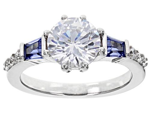 Photo of Bella Luce ® 4.30CTW Esotica ™ Tanzanite And White Diamond Simulants Rhodium Over Silver Ring - Size 7