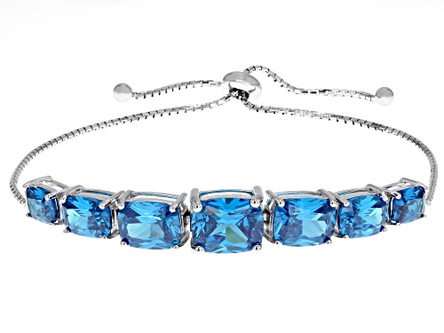 Photo of Bella Luce ® 18.20CTW Esotica ™ Neon Apatite Rhodium Over Sterling Silver Adjustable Bracelet