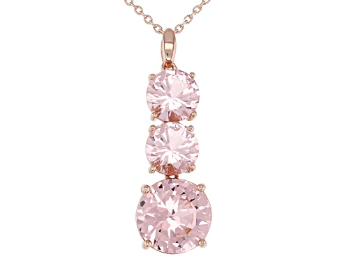 Photo of Bella Luce ® 9.12CTW Esotica ™ Morganite Simulant Eterno ™ Rose Gold Over Silver Pendant With Chain