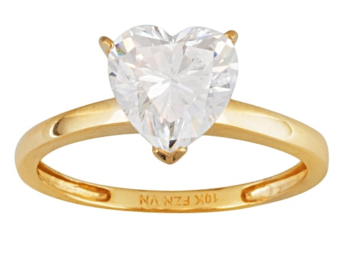 Photo of Bella Luce ® 2.90ctw Heart Shape 10k Yellow Gold Heart Ring - Size 6
