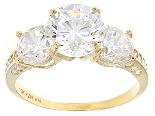 Photo of Bella Luce ® 6.61ctw Round 10k Yellow Gold Ring - Size 10