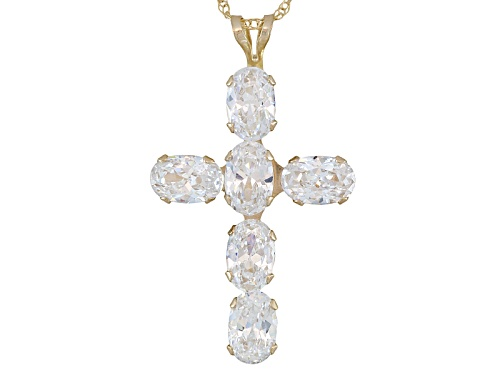 Photo of Bella Luce ® 4.38ctw Oval, 10k Yellow Gold Cross Pendant With Chain