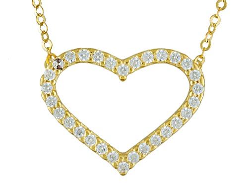Photo of Bella Luce ® .11ctw Diamond Simulant 10k Yellow Gold Heart Necklace - Size 18