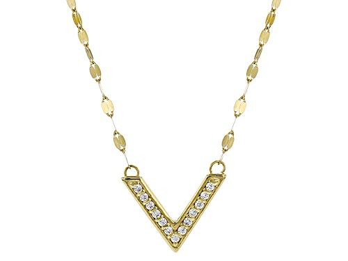 Photo of Bella Luce ® .05ctw Diamond Simulant 10k Yellow Gold Necklace - Size 18