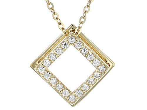 Photo of Bella Luce ® .20ctw 10k Yellow Gold Pendant With Chain (.10ctw Dew)
