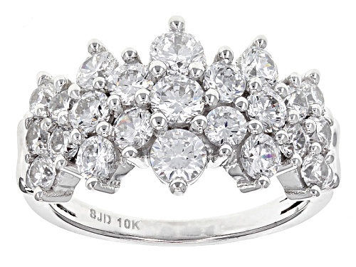 Photo of Bella Luce ® 4.05ctw Diamond Simulant 10k White Gold Ring (2.21ctw Dew) - Size 9