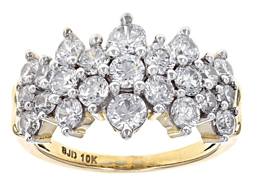 Photo of Bella Luce ® 4.05ctw Diamond Simulant 10k Yellow Gold Ring (2.21ctw Dew) - Size 7