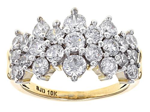 Photo of Bella Luce ® 4.05ctw Diamond Simulant 10k White Gold Ring (2.21ctw Dew) - Size 5