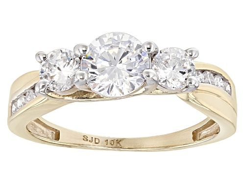 Photo of Bella Luce ® 2.60ctw White Diamond Simulant 10k Yellow Gold Ring (1.55ctw Dew) - Size 10