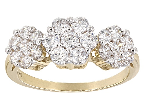 Photo of Bella Luce ® 2.25ctw White Diamond Simulant 10k Yellow Gold Ring (.93ctw Dew) - Size 12