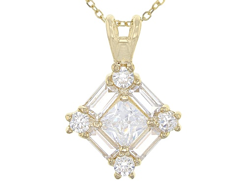Photo of Bella Luce ® 1.73ctw 10k Yellow Gold Pendant With Chain (1.11ctw Dew)