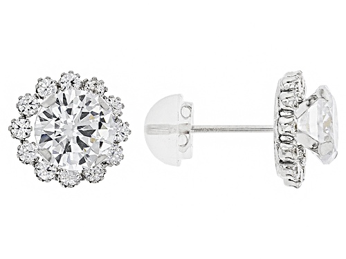 Photo of Bella Luce ® 3.40ctw White Diamond Simulant 10k White Gold Earrings (2.04ctw Dew)