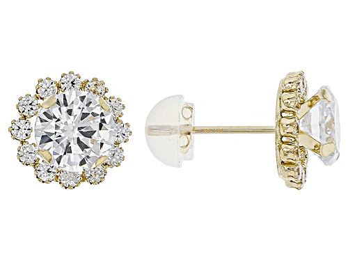 Bella Luce ® 3.40ctw White Diamond Simulant 10k Yellow Gold Earrings (2.04ctw Dew)
