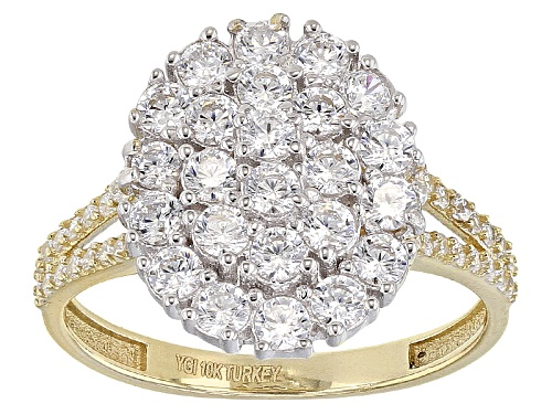 Photo of Bella Luce ® 2.24ctw 10k Yellow Gold And White Gold Ring (1.12ctw Dew) - Size 12