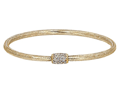 Photo of Bella Luce ® 0.16ctw White Diamond Simulant 10k Yellow Gold Bracelet - Size 7